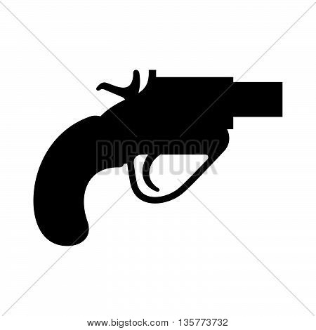 Signal pistol ( shade picture ) on white background
