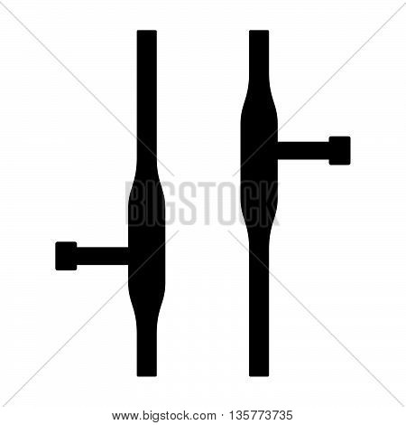 Tonfa weapon ( shade picture ) on white background
