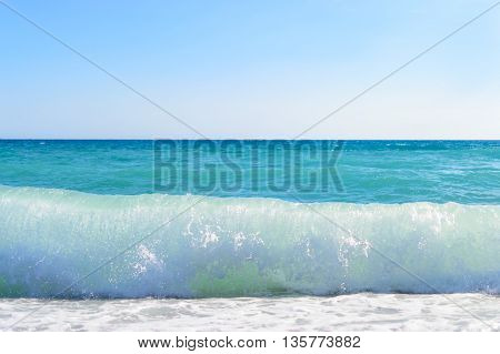 wave of the sea blue clear sky photo