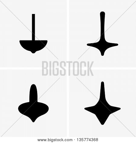 Set of four spinning tops ( shade pictures )