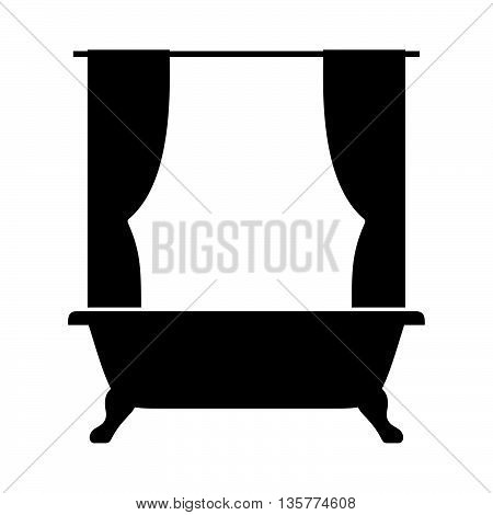 Shower curtain and the bath ( shade picture )