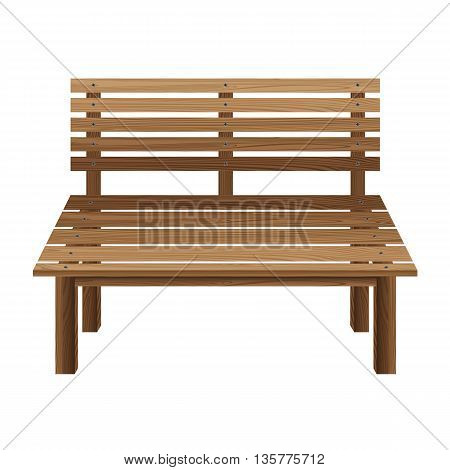 Wooden chairs on a white background. Wooden Bench.