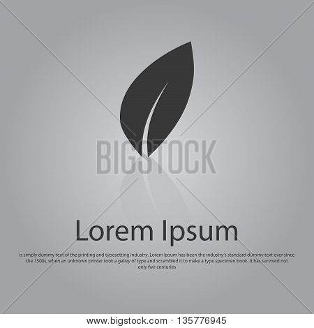 Vector Icon Of Leaf