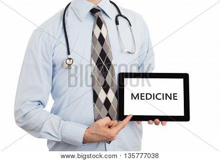 Doctor Holding Tablet - Medicine