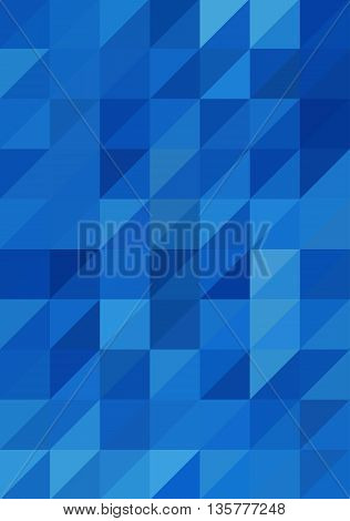Abstract Blue Triangle Background, Vector Illustration EPS10, Contains Transparent Objects
