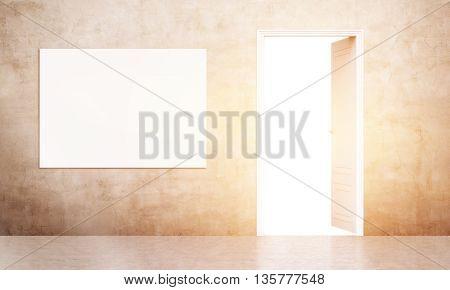 Open Door And Poster Toning
