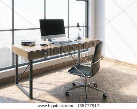 Workplace In Bright Office