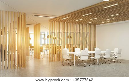 Toned Office Interior Sideview