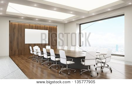 Conference Room With Whiteboard Side