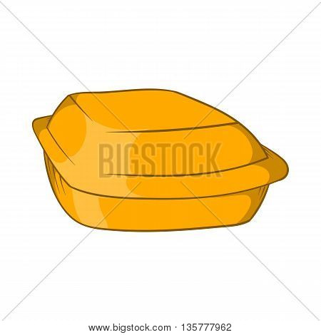 Food container icon in cartoon style isolated on white background. Food storage symbol
