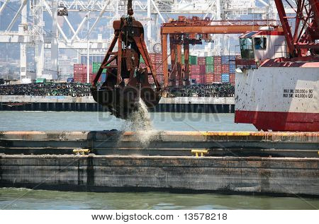 Dredging the port