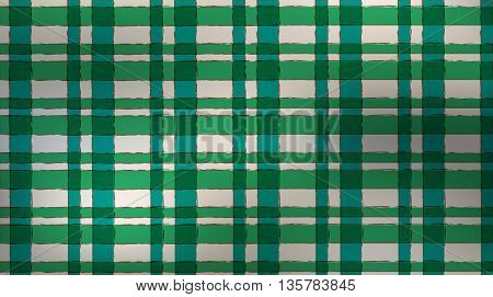 pattern Scotswoman green blue strips gray background vector seamless
