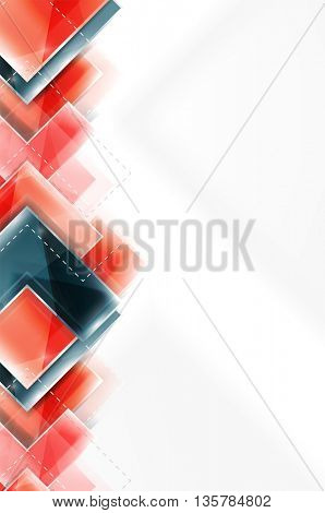 Colorful glossy arrow shapes. Abstract background. web brochure, internet flyer, wallpaper or cover poster design. Geometric style, colorful realistic glossy arrow shapes with copyspace. Directional