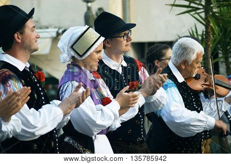 Montenegro, Herceg Novi - 28/05/2016: Folk group