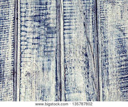 Old wood wethered blue planks background for decor