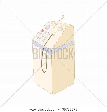 Dental equipment icon in cartoon style isolated on white background. Stomatological equipment symbol