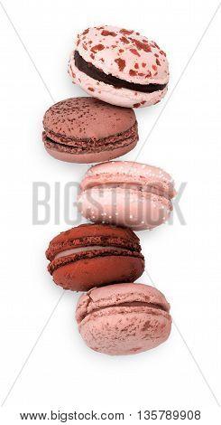 Five Pink Macarons