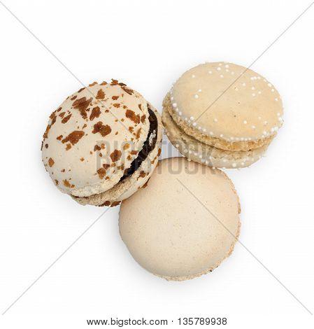 Three Creme Macarons