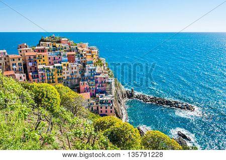 Manarola Town, Cinque Terre National Park, Italy