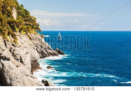Beautiful View Of The Sea And Cliffs