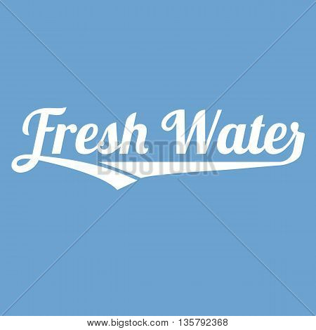 Vector fresh water alphabet with long tail