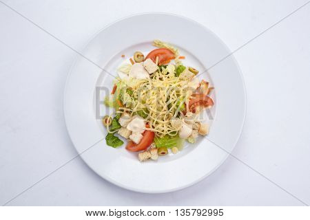 salad on the plate