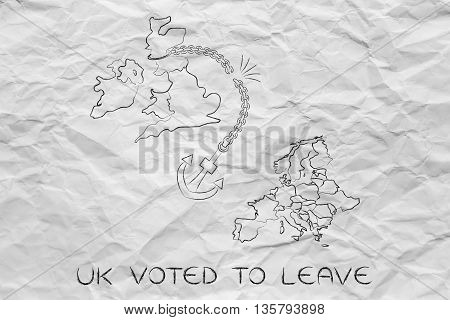 Uk Voted To Leave Eu, Broken Anchor (remainers' Point Of View)