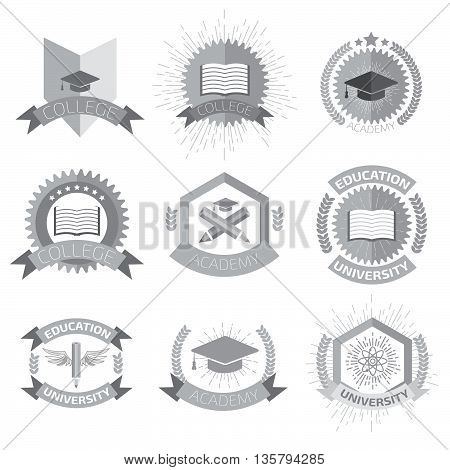 High Education Logos Set.