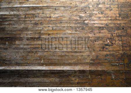 Grungy Wooden Floor