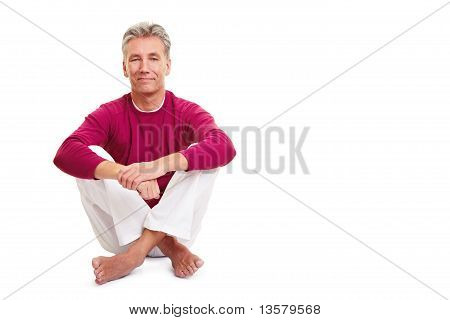 Relaxed Senior Man Sitting