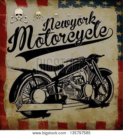 Motorcycle tee graphic fashion style new trend