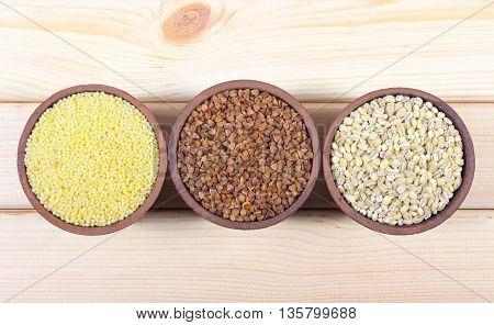 Pearl Barley, Buckwheat, Millet Groats