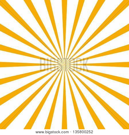 circular light scattered behind. Radial background. Yellow Radial rays