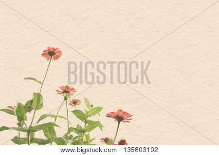 flowers background with color fill and patternvintage style effect fill in photo soft focus effect