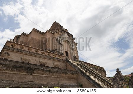 Ancient Buddhism Pagoda In Asian Temple