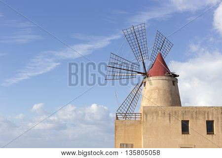 View Of The Wwf Windmill In The Salt Pans