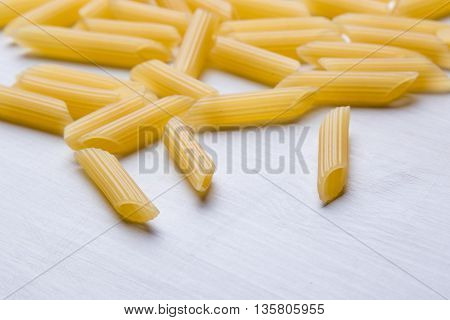 Raw Penne On Table