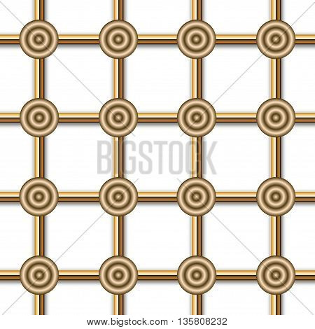Grid composed of golden circles, gradient type.