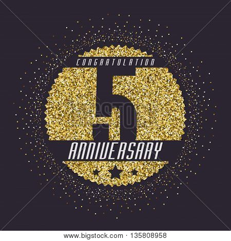 Five years anniversary celebration logotype. 5th anniversary logo.