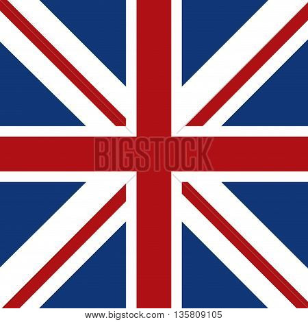 United kingdom concept represented by flag icon. Colorfull and flat illustration