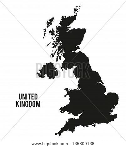 United kingdom concept represented by map  icon. isolated and flat background
