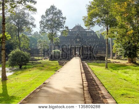 Temple area named Baphuon in Angkor Thom located in Cambodia