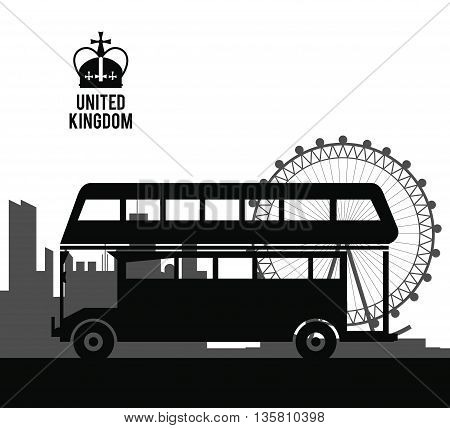 United kingdom concept represented by traditional bus icon. isolated and flat illustration