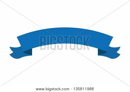 flat design horizontal banner curved upwards icon vector illustration