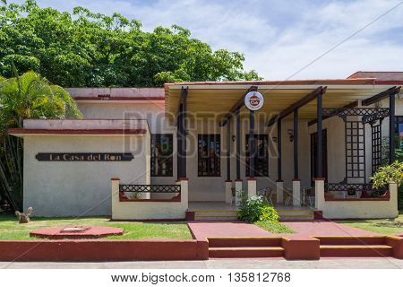 VARADERO, CUBA - JUNE 03, 2015: Museum from the rum Havanna Club in Varadero