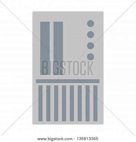 flat design grey sd card icon vector illustration