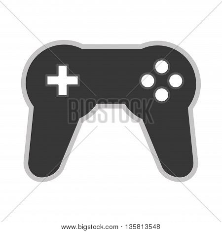 grey flat design of game controller vector illustration