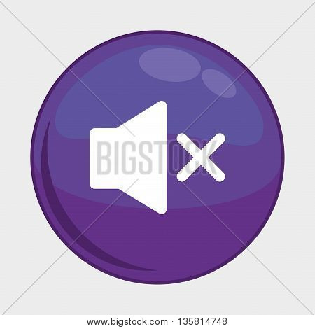 Social Media button represented by sound multimedia app . Colorfull and isolated illustration