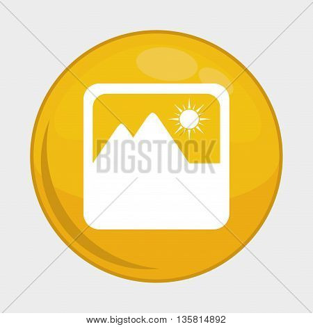 Social Media button represented by picture multimedia app . Colorfull and isolated illustration