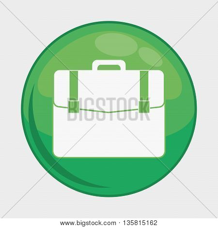 Social Media button represented by suitcase multimedia app . Colorfull and isolated illustration